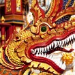 Dragon in temple — Stock Photo