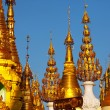 Stock Photo: Buddhist stupas in Myanmar
