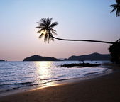 Sea on sunset — Stockfoto