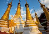 Buddhist stupas in Myanmar — Stock Photo