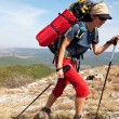 Girl in hike — Stock Photo