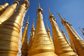 Buddhist stupas in Myanmar — Стоковое фото