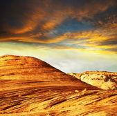 Klif na zachód słońca — Zdjęcie stockowe