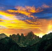 Pic sur coucher de soleil — Photo
