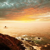 Morza na zachód słońca — Zdjęcie stockowe