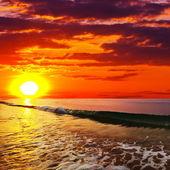 海の夕日 — ストック写真