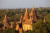 Баган на закате в Мьянме — Стоковое фото