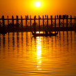 Stock Photo: Bridge in Myanmar