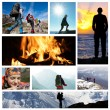 Royalty-Free Stock Photo: Hike collage