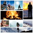 Hike collage — Stock Photo #5331557