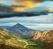 Mountains at dawn — Stock Photo