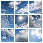 Witte wolken — Stockfoto
