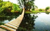мост на речке — Стоковое фото
