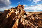 Cliff on Salt Lake landscapes,USA — Stock Photo