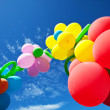 Balloons on blue — Stock Photo
