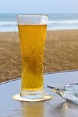 Beach side Beer — Stock Photo