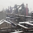 Industrial landscape of metallurgical industrial complex — Stock Photo