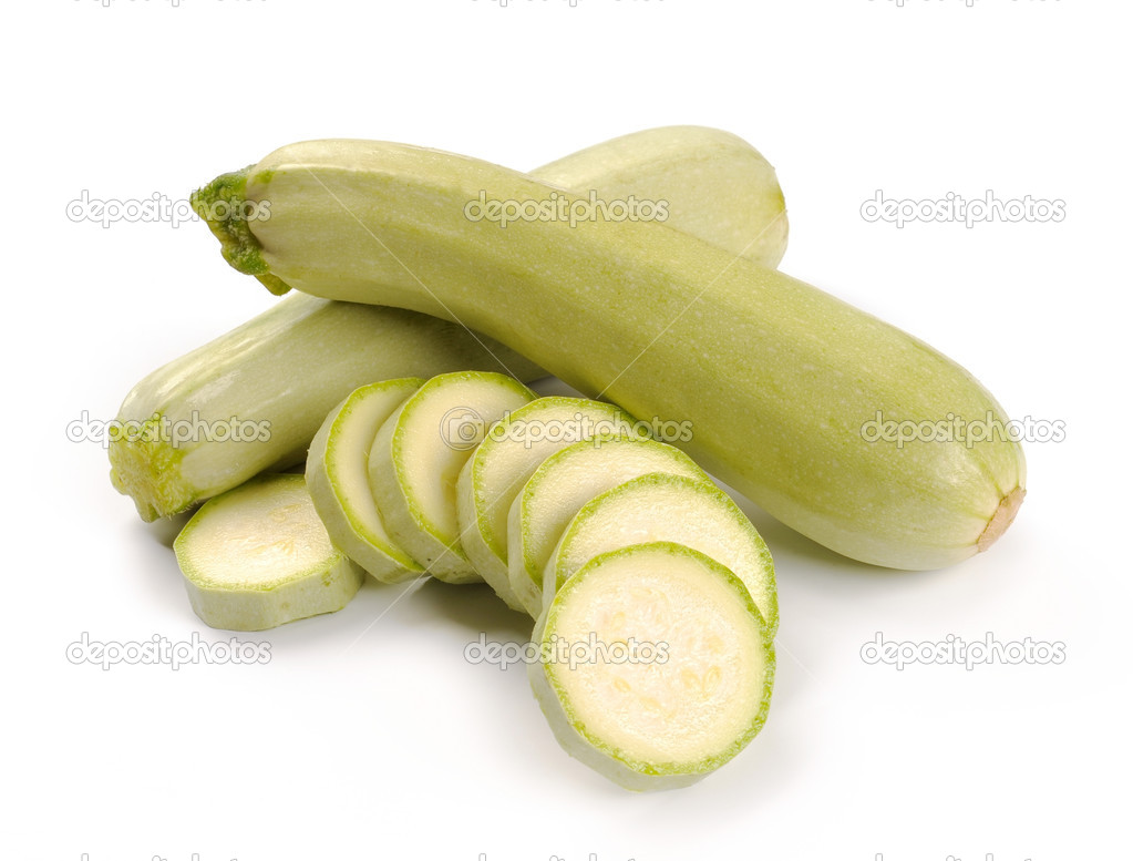 Courgette on a white background — Stock Photo #3928966