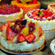 Cakes in a shop — Foto Stock