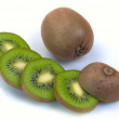 Ripe kiwi and segment — Stock Photo #4506741