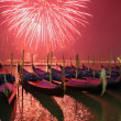 New Year's salute in Venice - Stock Photo