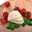 Mozzarella cherry tomatoes basil - Foto Stock