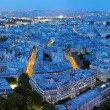 Night panorama of Paris — Stock Photo