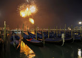 New Year's salute in Venice — Photo