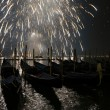 New Year's salute in Venice — Stock Photo