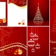 Royalty-Free Stock Vector: Red christmas set