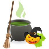 Cauldron — Stock Vector