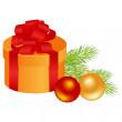 christmas gift — Stock Vector #4349753