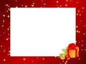 Red christmas frame — Stock Vector