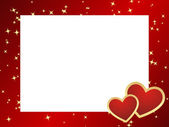 Valentines frame background. — Vector de stock