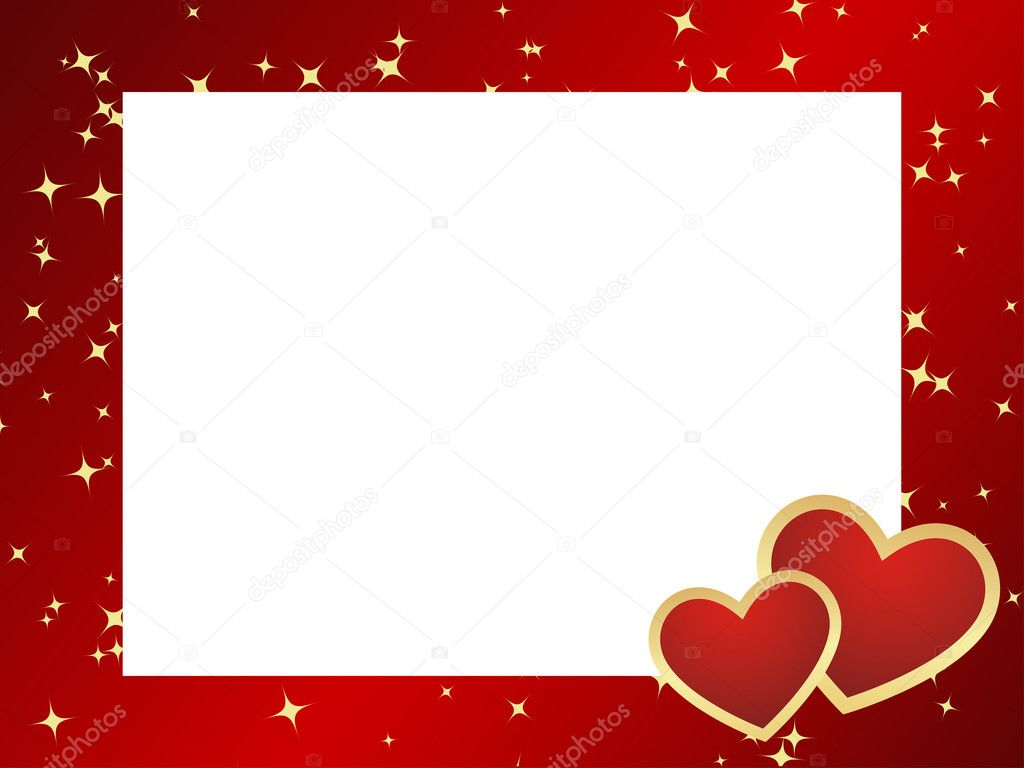 The vector frame contains the image of valentines background. — Stock vektor #4431948