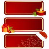 Three christmas tablets — Stock Vector
