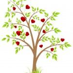 Tree of hearts — Stock Vector