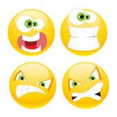 Set emoticons — Stock Vector