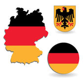 The Germany flag and map — Stock Vector