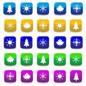 Naturliga symboler — Stockvektor