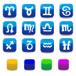Icons and signs of the zodiac — Stock Vector