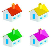 Multicoloured houses — Stock Vector