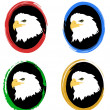 Icons with eagles — Vector de stock #4204305