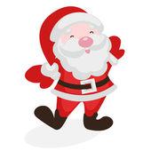 Frohe santa claus — Stockvektor
