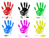 Multicoloured fingers — Stock Vector