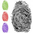 To finger-print - Stock Vector