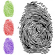 To finger-print — Stock Vector