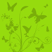 The butterfly and plant — Stock Vector