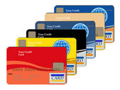 Set of credit cards — Stock Vector