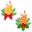 Stock Vector: Candles and decorations